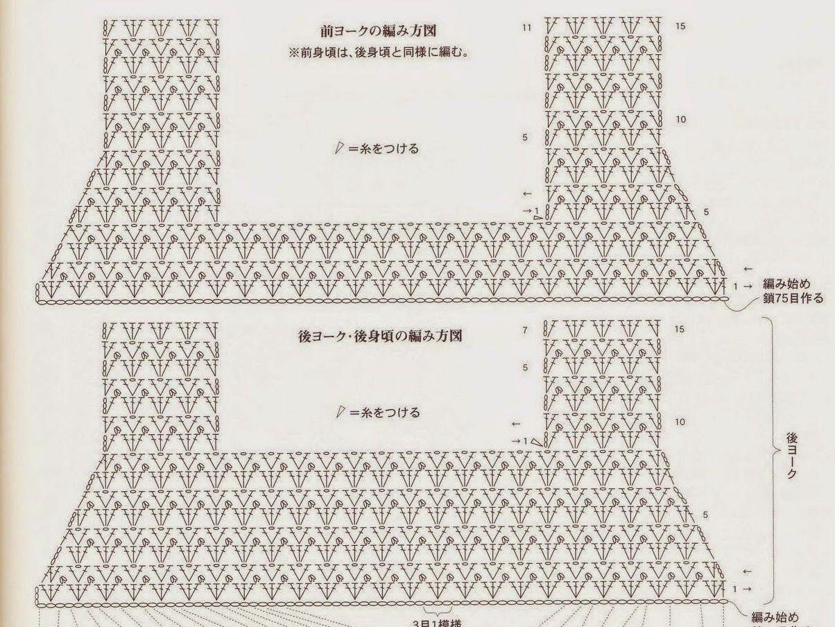 схема детского платья крючком ананас