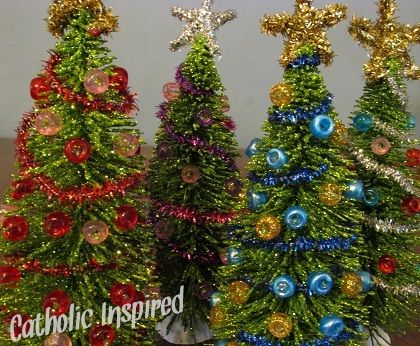 Miniature Christmas Trees For Kids Bedrooms Or Dollhouses | Catholic  Inspired ~ Arts, Crafts,
