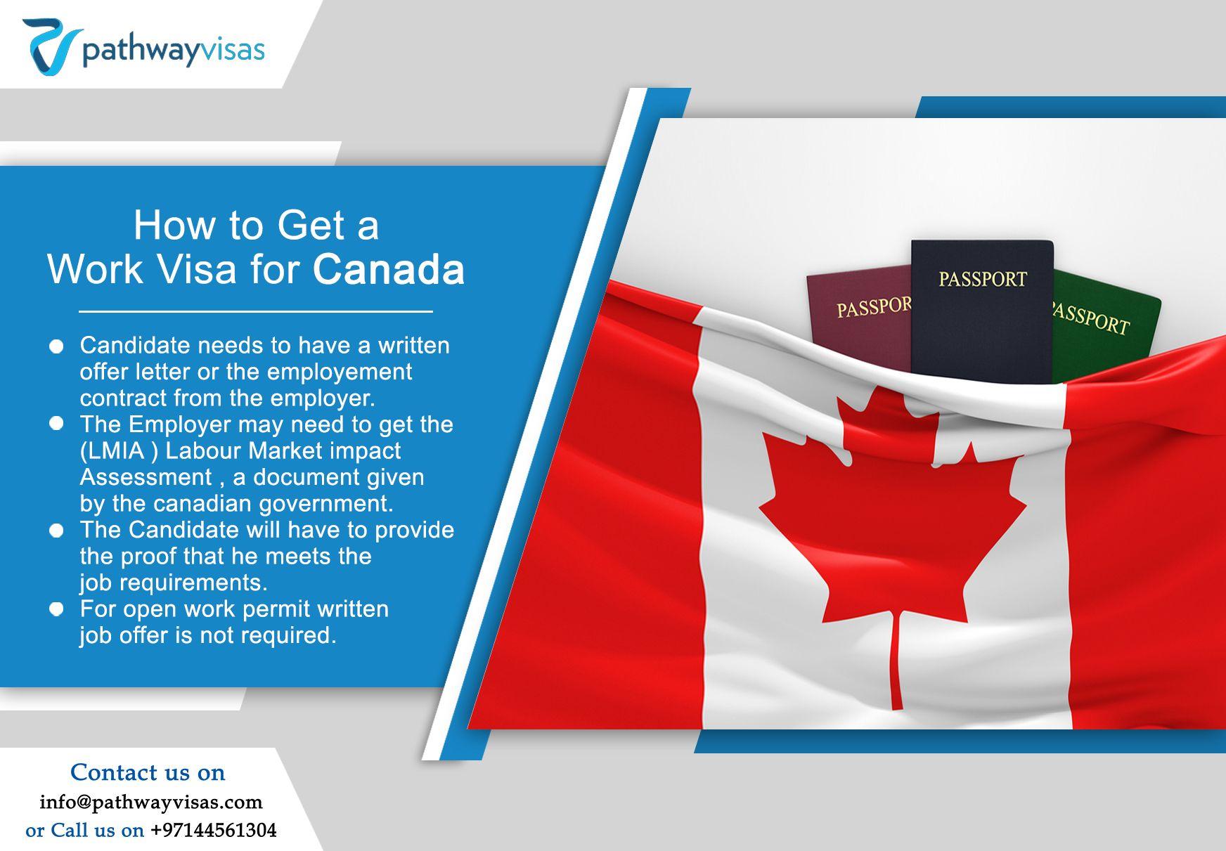 Steps to get a work #visa for #Canada  #pathwayvisas