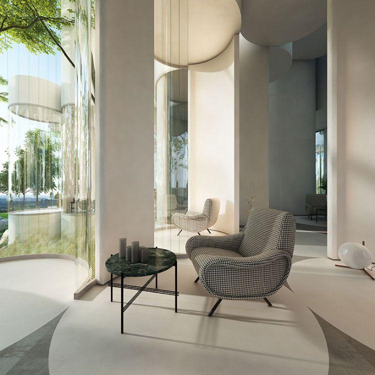 Glasfront Transparent Zylinderhaus Sessel Relaxzone Tisch #architektur # Dreamhome