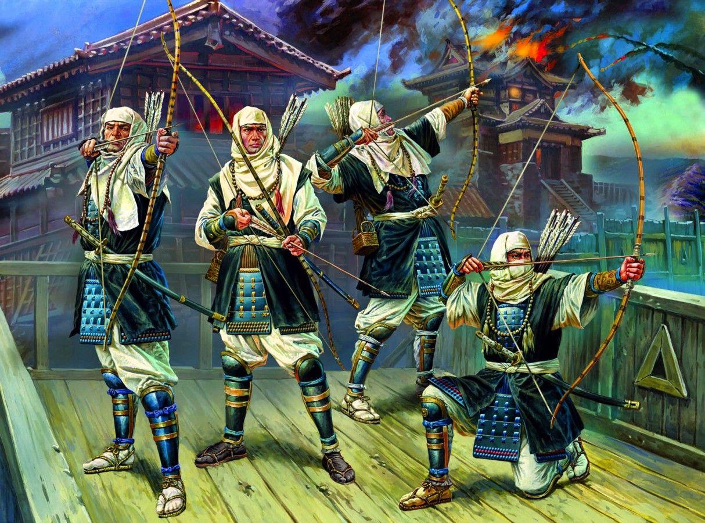 warrior monk archers warring states sengaku period