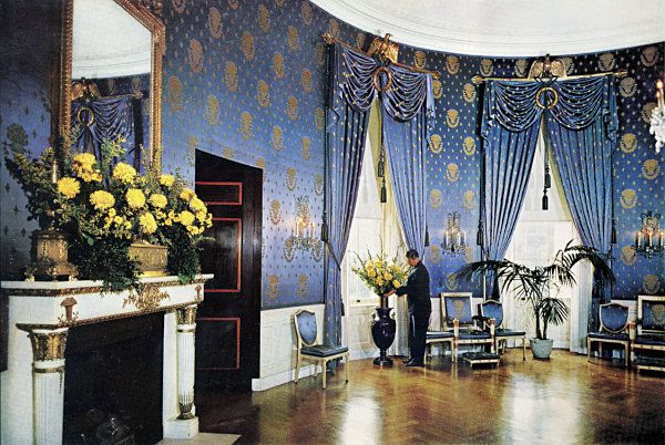 The Blue Room Room Around 1960 National Geographic Blue Rooms