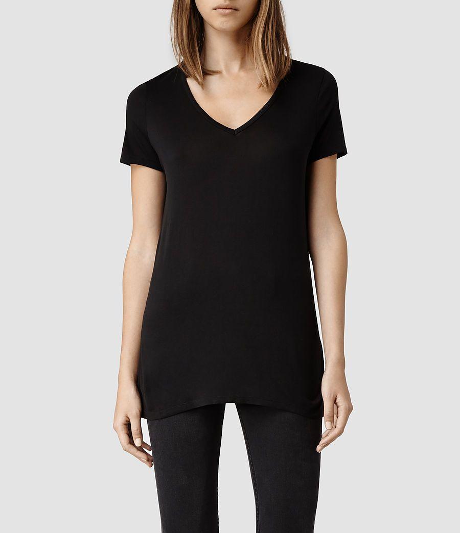 Black t shirt womens - Malin Silk T Shirt
