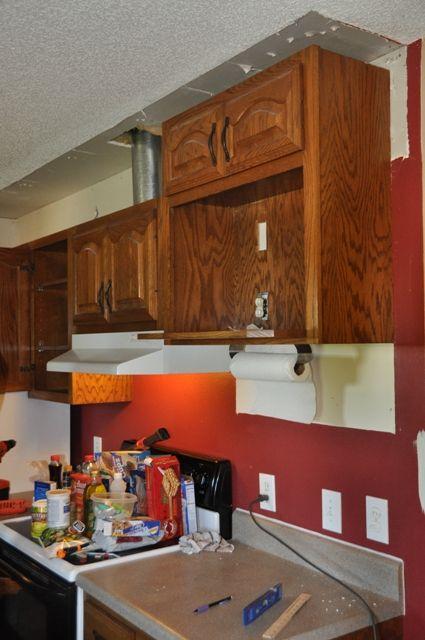 Kitchen Makeover Tearing Out More Soffit Kitchen Soffit Upper