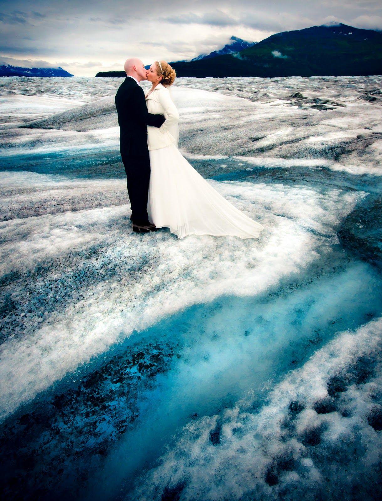 Fly In A Helicopter For An Alaskan Glacier Wedding Alaska