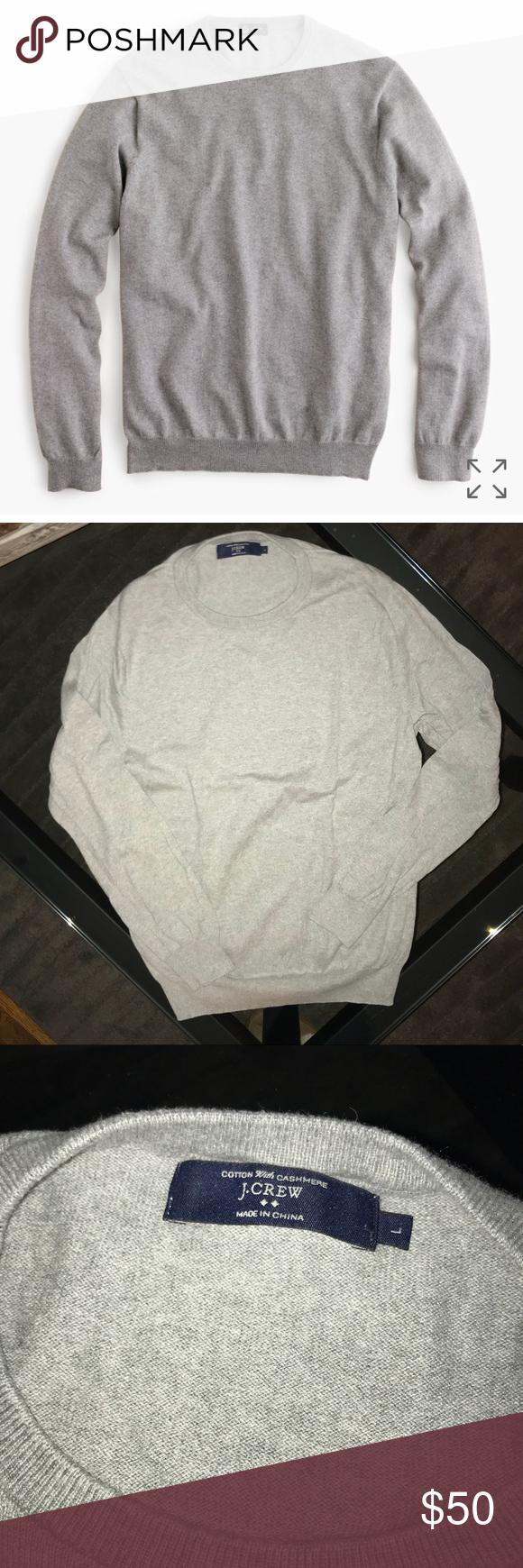 Cotton Cashmere Sweater J. Crew Cotton Cashmere crewneck sweater . Worn once. Perfect condition! J. Crew Sweaters Crewneck