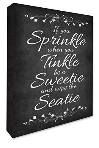 If You Sprinkle When You Tinkle Bathroom Wall Art Pict Https Www Amazon Co Uk Dp B0758g31w5 Ref Cm Sw R Bathroom Wall Art Wall Canvas Canvas Print Wall