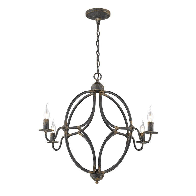 Darla 4 Light Candle Style Classic Traditional Chandelier