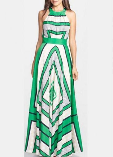 7d605c8bea26d7 Green Chiffon Sleeveless Scarf Print Maxi Dress with cheap wholesale price,  buy Green Chiffon Sleeveless Scarf Print Maxi Dress at rotita.com !