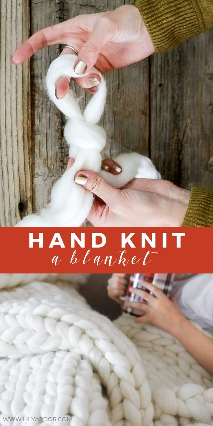 How to's : Here's how to make a chunky knit blanket in 2 hours.  With video instructions as well!