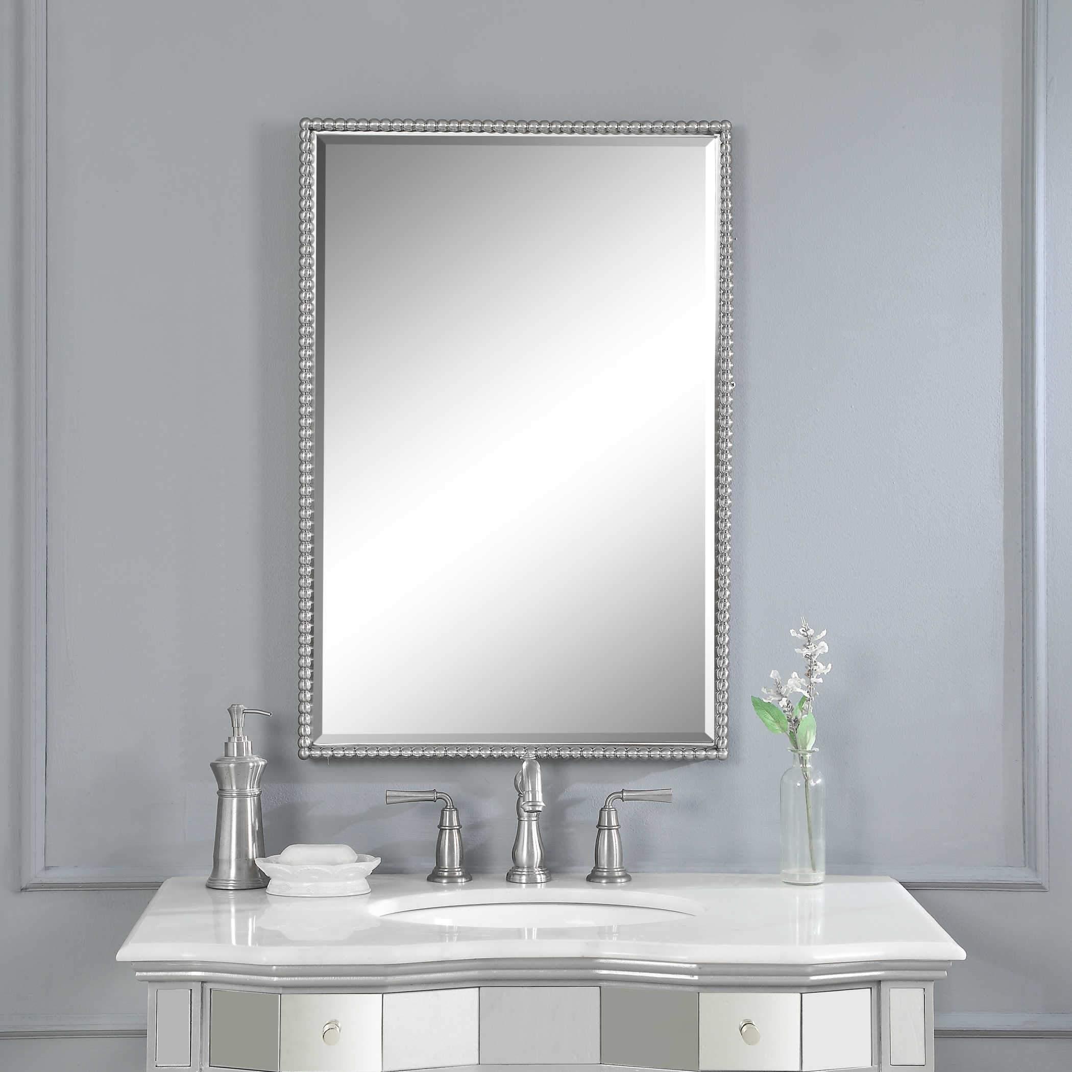 Sherise Brushed Nickel Vanity Mirror Brushed nickel