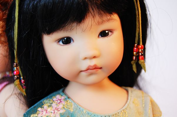 """""""Zoe"""" 13"""" studio vinyl doll by Dianna Effner - sculpted and hand painted! $325"""