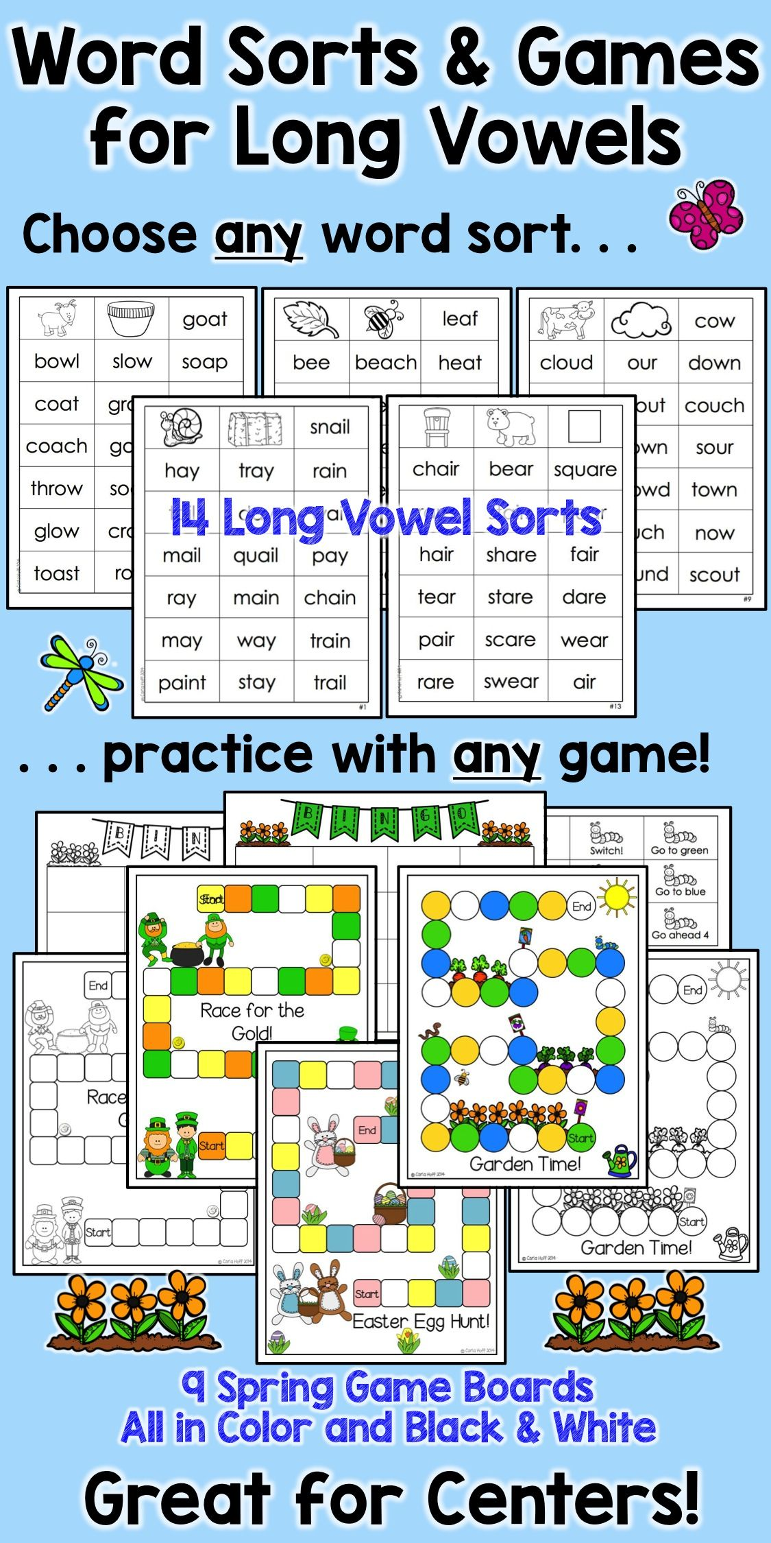 Spring Word Sorts And Games