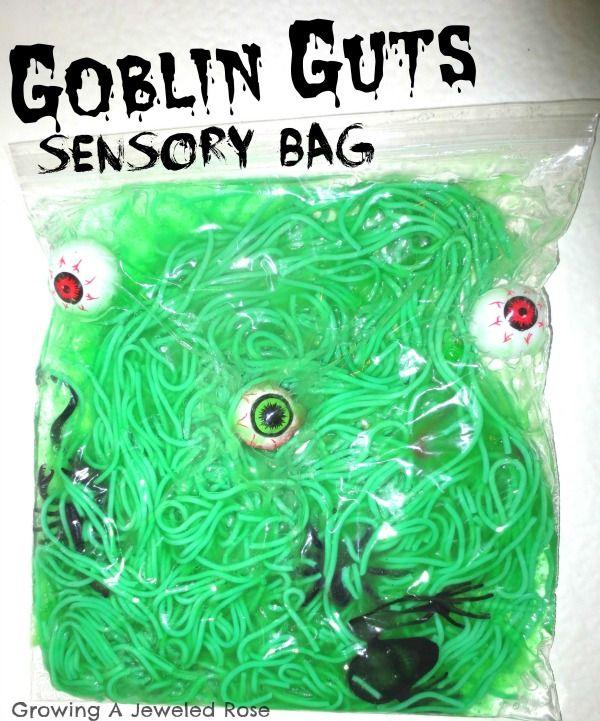Halloween Sensory Bags #toddlerhalloween
