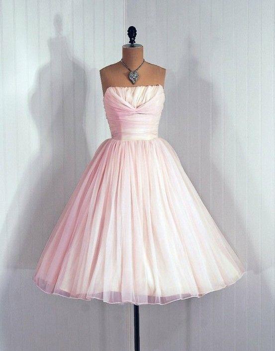 Pale Pink 1950's Dress