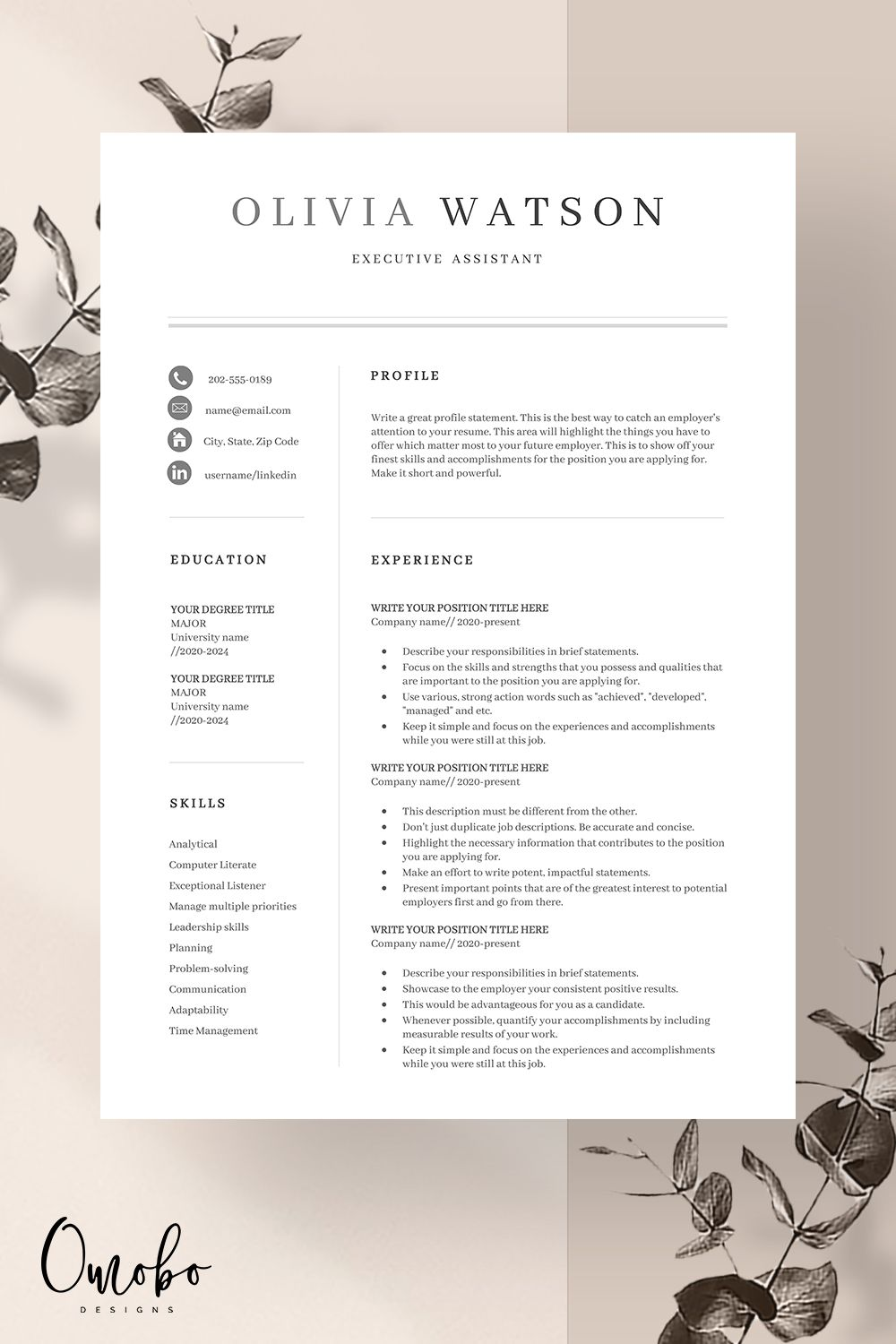 Resume Template Professional Resume Template Resume Templates Curriculum Vitae Resume Cv Functional Template Ms Word Cv Template Oli In 2020 Resume Template Professional Resume Templates Resume Template