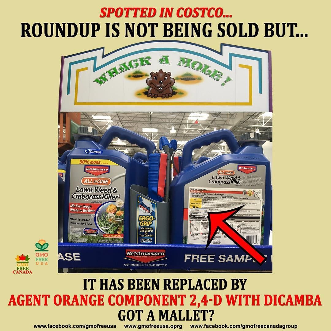 Before You Jump For Joy About Costco No Longer Selling Roundup Get Out Your Mallet Because They Re Playing Whack A Mole With Agent Orange Life Facts Gmo Foods