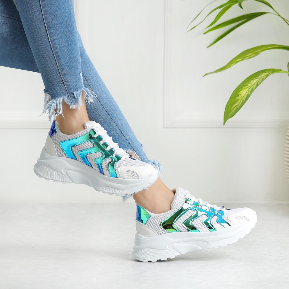 Legop Neon Mavi Yuksek Tabanli Spor Ayakkabi Bayan In 2020 Tennis Outfit Women Tennis Clothes Shoes