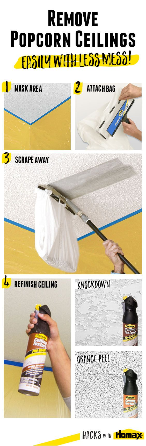 Superb 2 Ways To Remove Popcorn Ceilings | Popcorn Ceiling Removal, Popcorn And  Ceilings