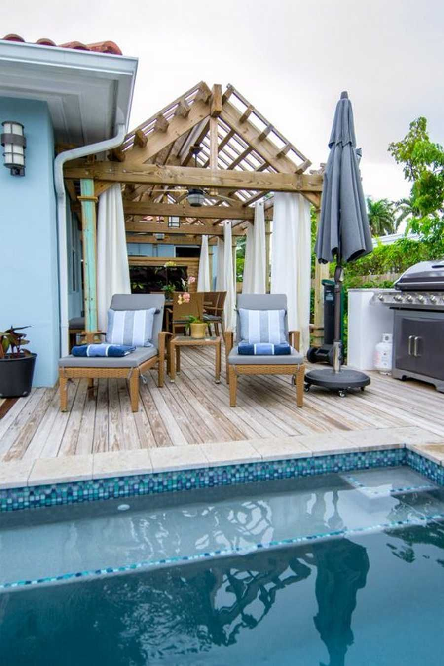 This attractively designed pool pergola plan is simply making this ...