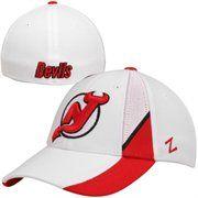 365-Day No Hassle Returns! Zephyr New Jersey Devils Standout Z-Fit Flex Hat - White