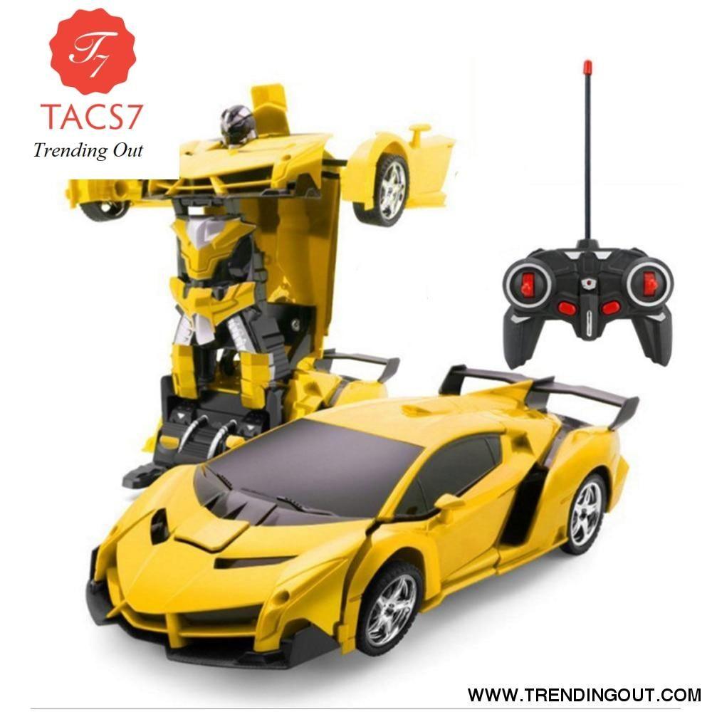 Rc Transformer 2 in 1 RC Car Driving Sports Cars Transformation Robots Free ship