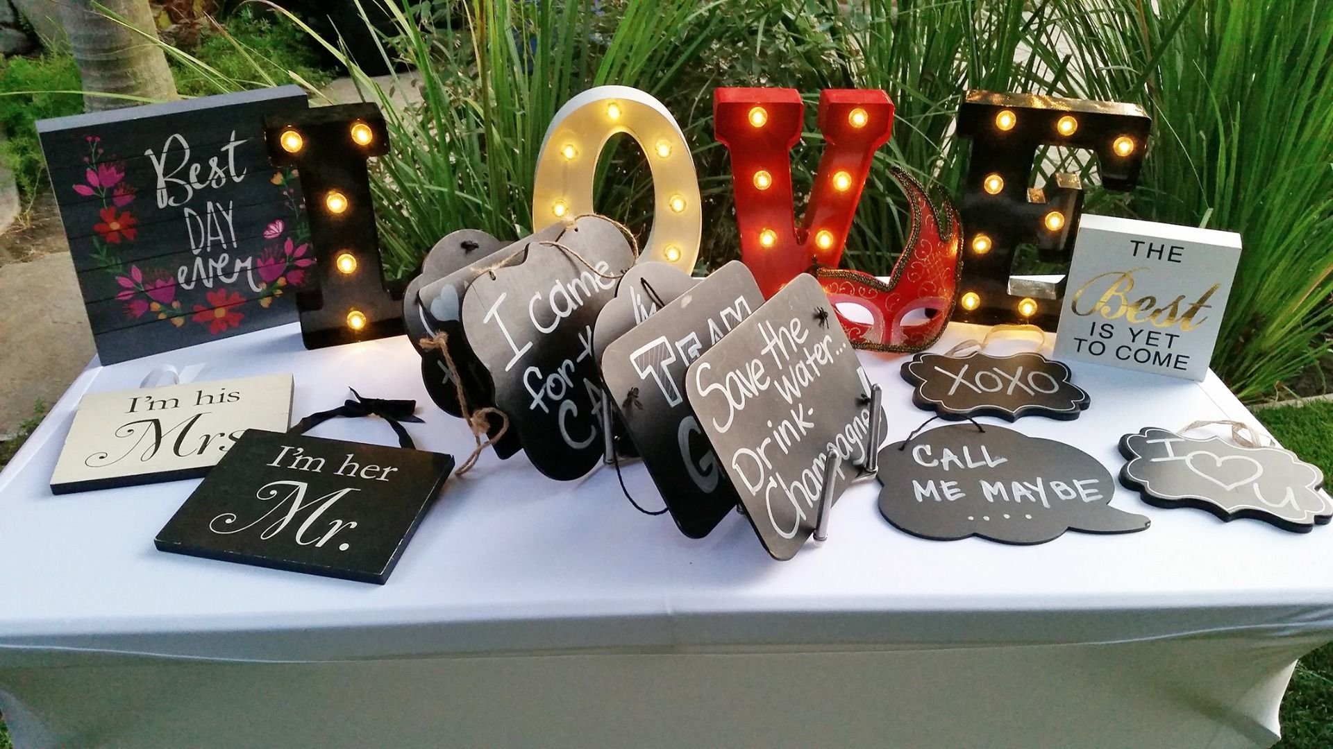 wedding photo booth props printable%0A Image result for photo booth prop table setups