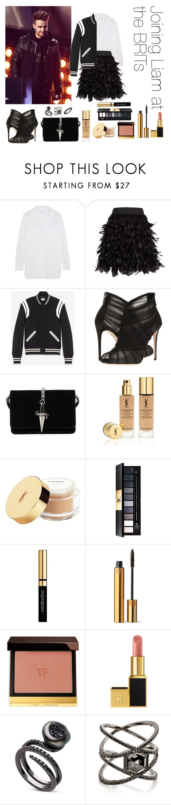 """""""Joining Liam at the BRITs"""" by thetrendpear-eleanor ❤ liked on Polyvore featuring Equipment, Alice + Olivia, Yves Saint Laurent, Dolce&Gabbana, Cesare Paciotti, Tom Ford, Eva Fehren and Anne Sisteron"""