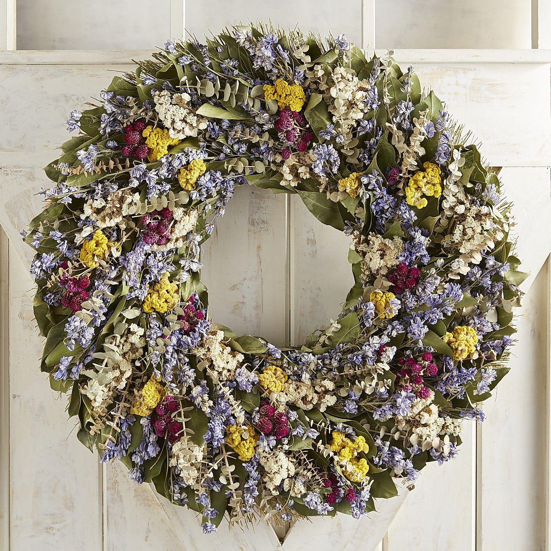 Preserved Spring Multicolor Floral Oversized 30 Wreath Dried Flower Wreaths Dried Flowers Wreaths