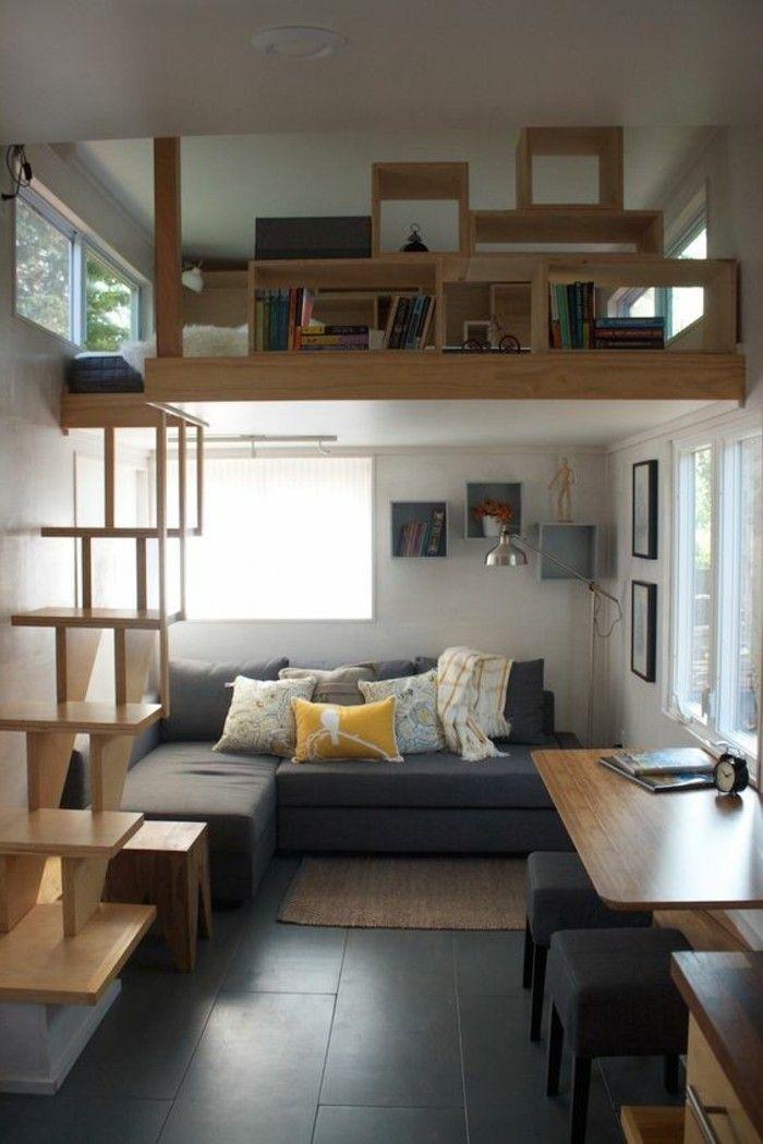 Arredare un monolocale con soppalco in legno soggiorno for Arredare un piccolo ingresso