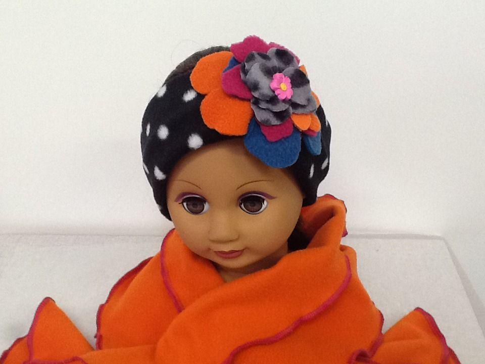 Bandeau,Bonnet,chapeau,echarpe polaire à pois,fleur   Mode Bébé par creation -valerie-castets 02ea4ca204e
