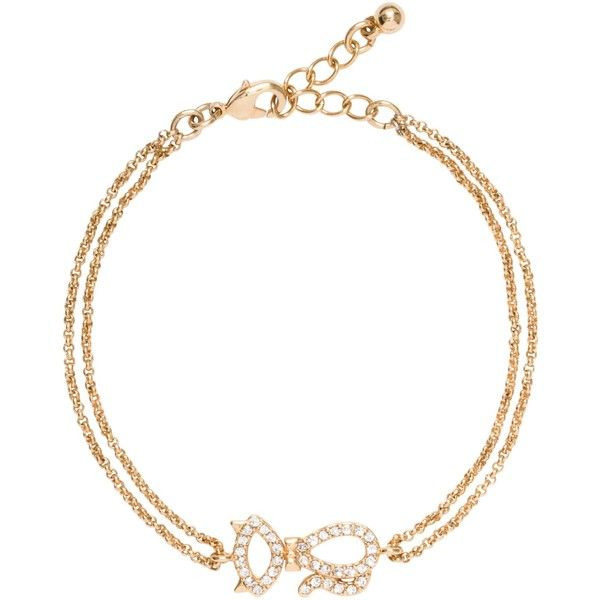 Kate Spade Jazz Things Up Pave Cat Bracelet ($35) ❤ liked on Polyvore featuring jewelry, bracelets, cat bangle, kate spade, cat charm, pave charms and kate spade bangle