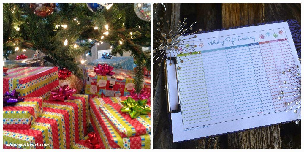 Christmas shopping organization tips