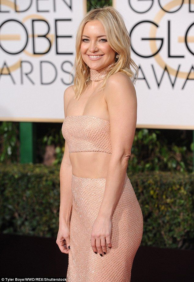 Happy Hudson! The Almost Famous starlet seemed delighted to be at the Golden Globe awards...