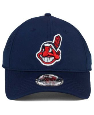 85d7ffc2a4e72 New Era Cleveland Indians Perf Pivot 2 9TWENTY Adjustable Cap - Blue  Adjustable