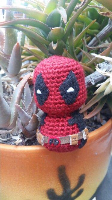 Chibi Deadpool amigurumi using 53stitches Charmander pattern as base ...
