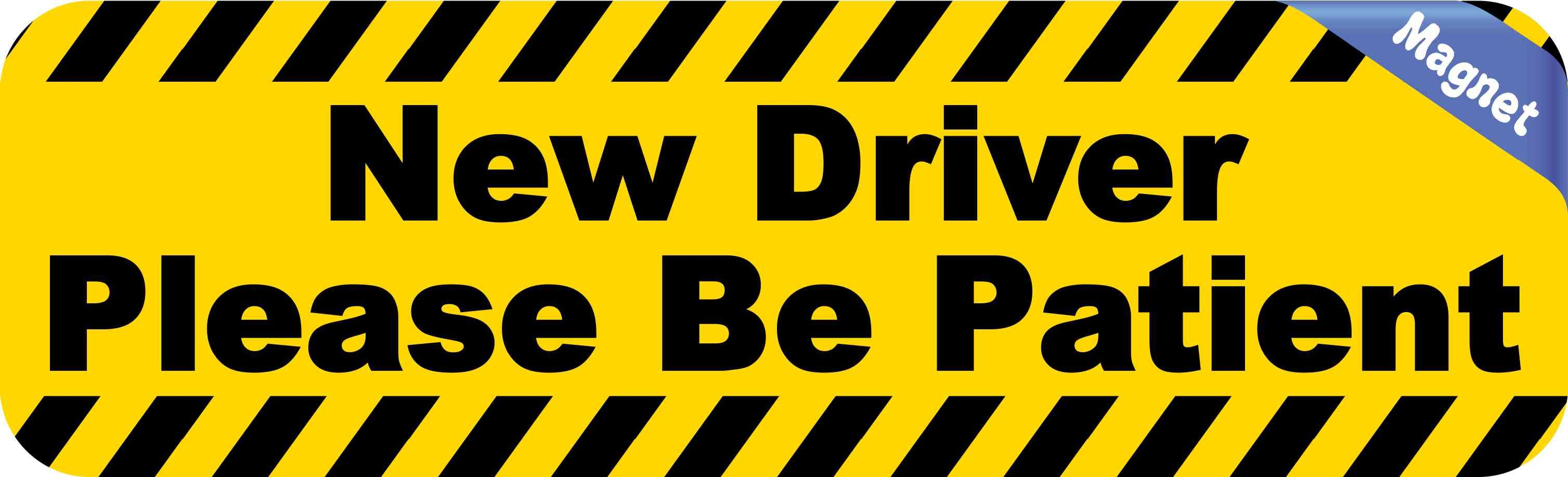 20in X 6in Large New Driver Magnet Magnetic Vehicle Sign Magnets New Drivers Vinyl Sticker Window Decals
