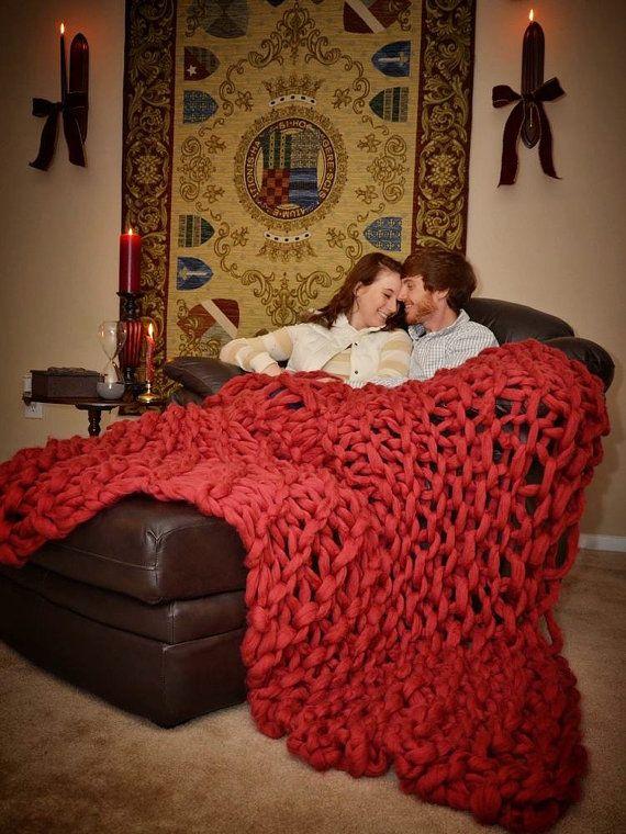 Manta suave grueso - tiro gigante sofá 60 x 30 (100% Natural) otoño otoño invierno