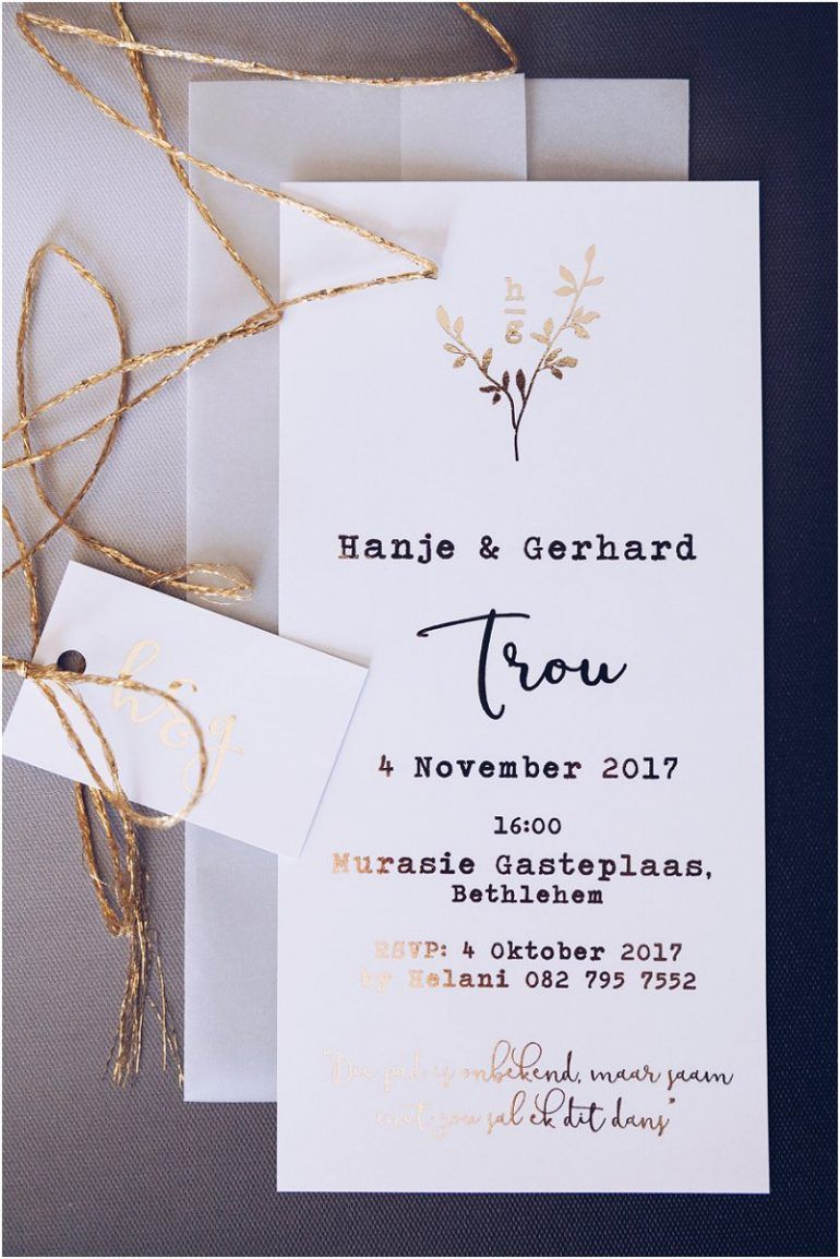 goud geïnspireerde trou uitnodiging skryfbehoefte wedding