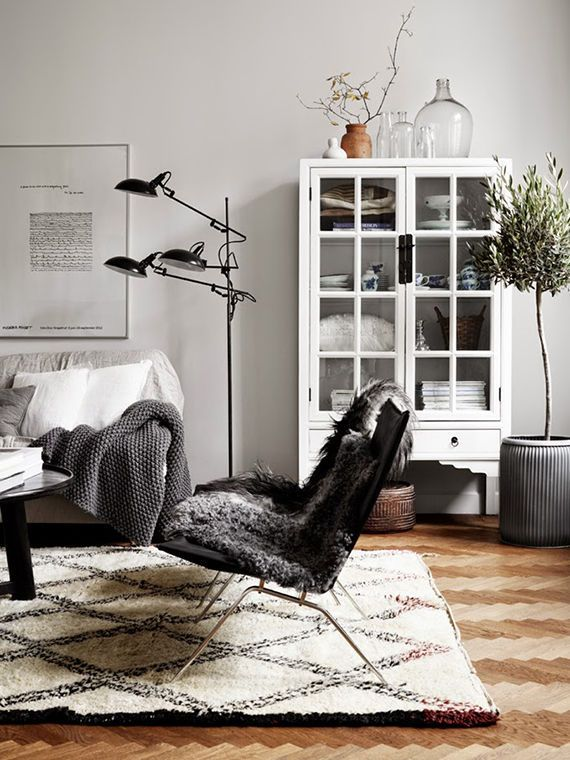 Myriad textures inspire comfort within the streamlined details of this Scandinavian-esque space. | domino.com