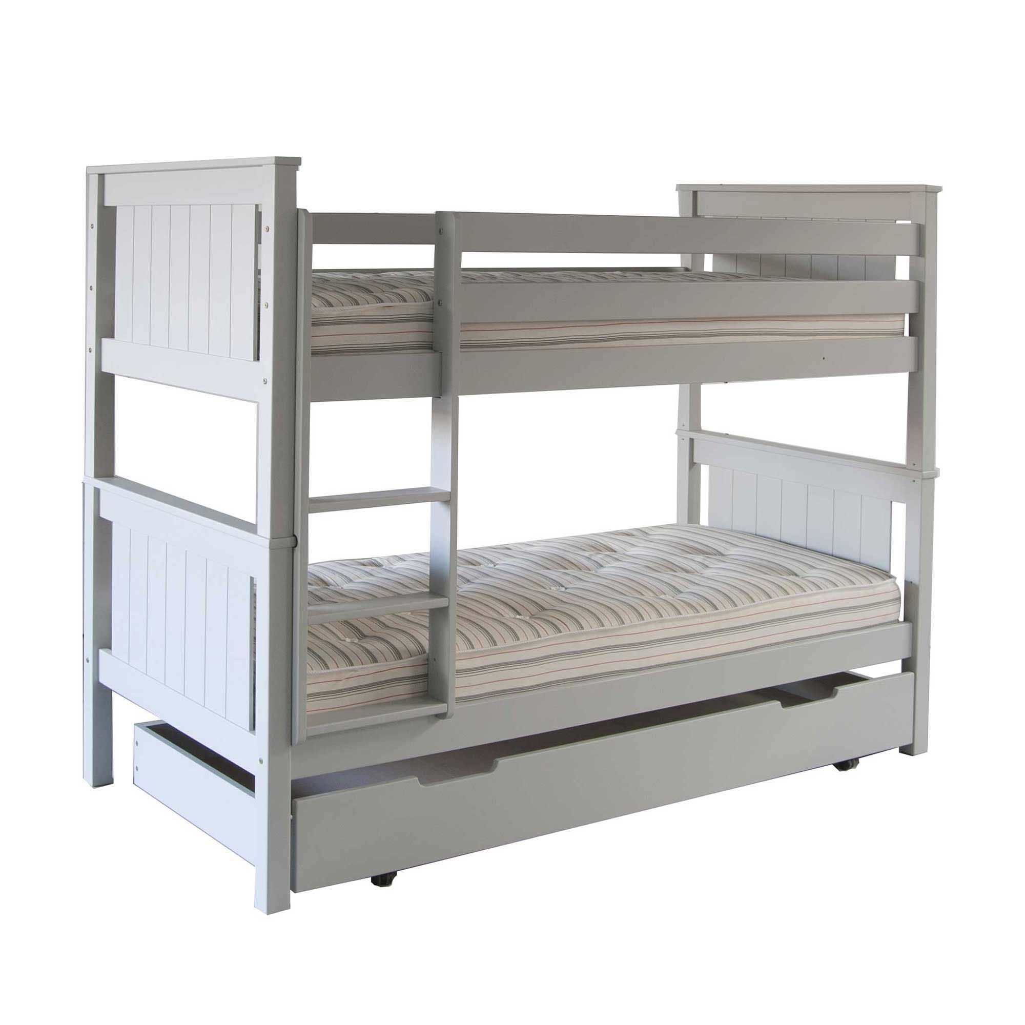 Buddy Beech Bunk Bed With Trundle Childrens Beds Childrens