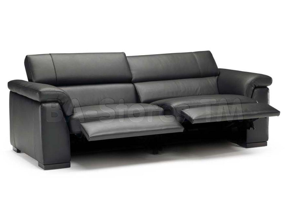 Natuzzi Editions Contemporary Leather Motion Sofa B634