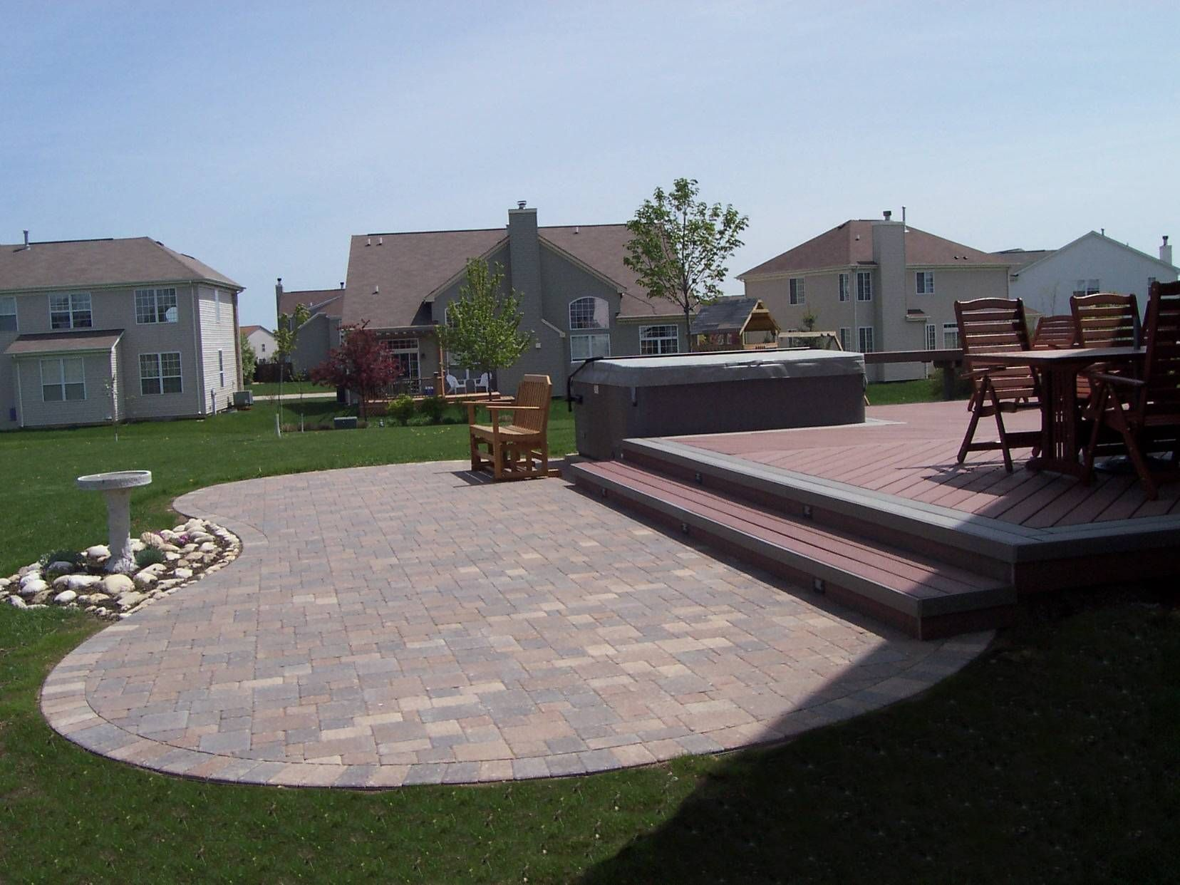 Find This Pin And More On Outside Ideas By Dougprange. Paver Patio With  Composite Deck ...