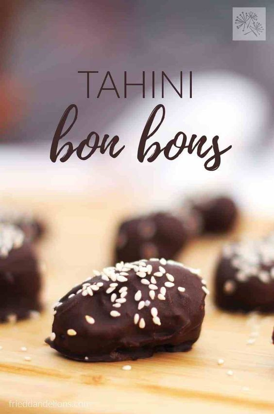These little Tahini Bon Bons take just minutes to make, and taste like candy bars, even though they are secretly dates in disguise! Bonus: they're nut free + gluten free! (vegan, nut free, gluten free, soy free, paleo)