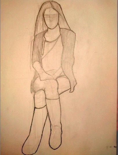 Güzel Kız çizimleri Kolay Güzel çizimler