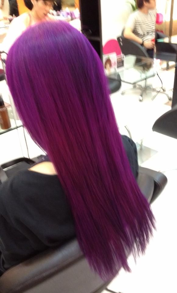 Red And Purple Hair Dye Mixed