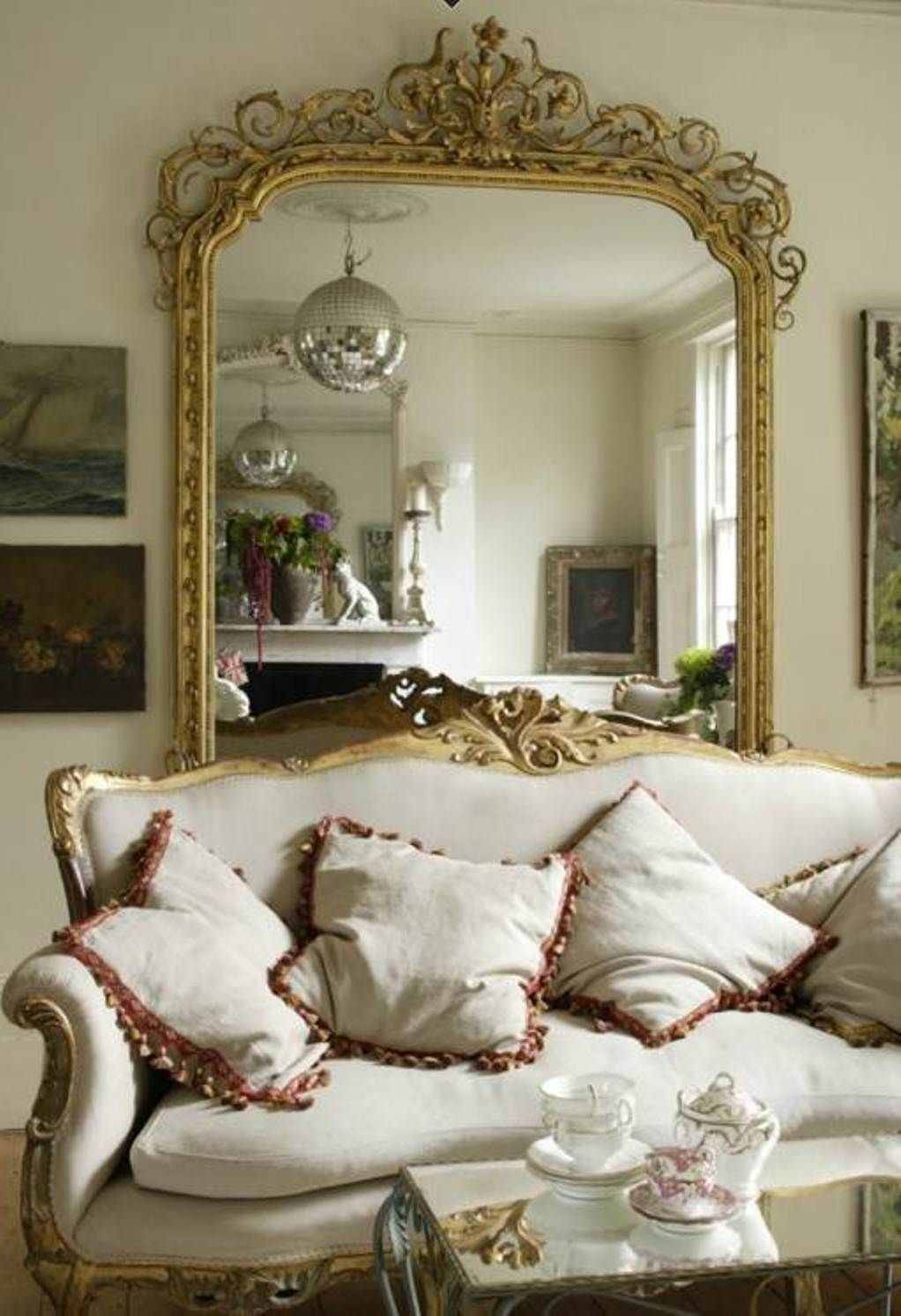 Decorative wall mirrors for living room decorative walls for Big wall pictures for living room