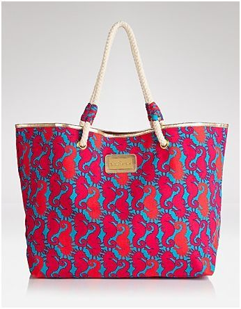 Lilly Pulitzer Shoreline Printed Tote Bag in Snorkel Blue Hold Your Horses