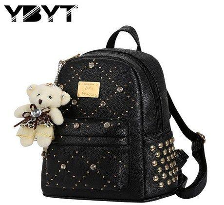 Ladies preppy style backpack bear bags   Luggage & Bags ...