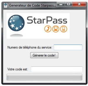 UN DE CODE GENERATEUR STARPASS TÉLÉCHARGER